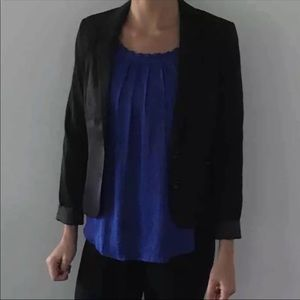 H&M Two Button Black Blazer  Size: 6